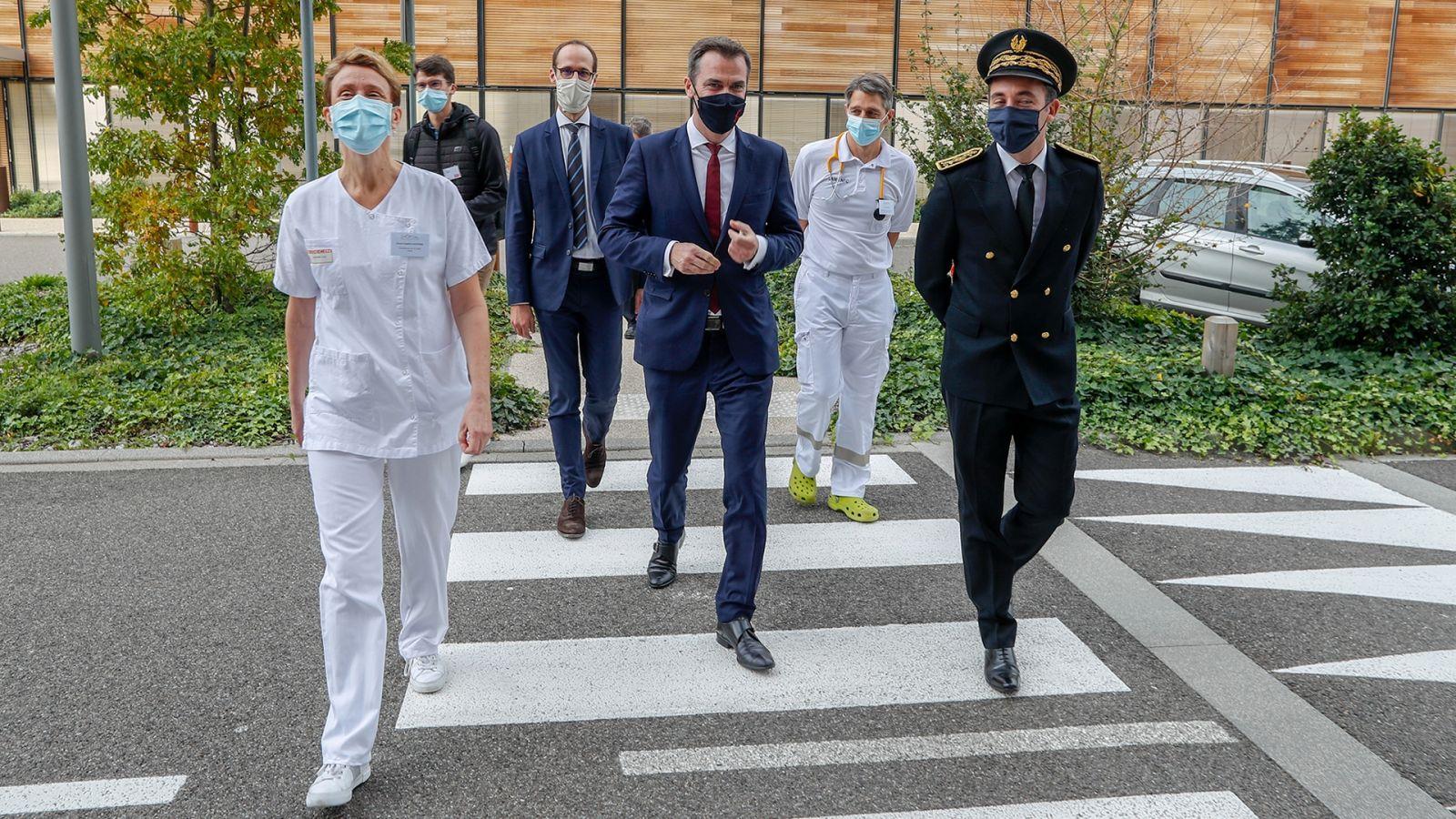 Monsieur Olivier Veran, ministre de la santé, a inauguré le 9 octobre 2020 l'hôpital Nord Franche Comté